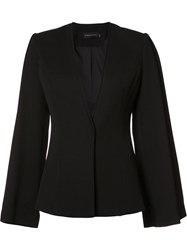 Brandon Maxwell Classic Fitted Jacket Black