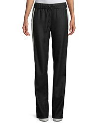 Maggie Marilyn Make Your Move Sporty Wool Track Pants Black
