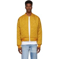 Paa Yellow Quilted Bomber Jacket