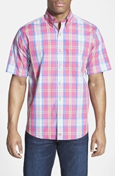 Cutter U0026 Buck 'Bradford Plaid' Classic Fit Short Sleeve Sport Shirt Multi Red