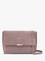 Ted Baker Lisa Leather Cross Body Bag Mid Grey