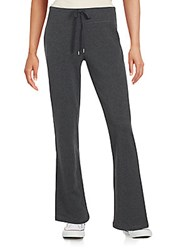 Andrew Marc New York Cotton Blend Textured Pants Charcoal