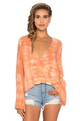 Blue Life Tie Dye Hayley Top Orange