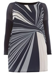 Evans Live Unlimited Printed Tunic Navy
