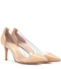 Gianvito Rossi Exclusive To Mytheresa.Com Plexi 70 Leather And Transparent Pumps Neutrals