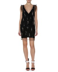 Msgm Sleeveless Embellished Dress Black