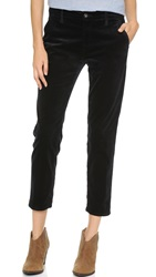 Ag Jeans The Caden Tailored Velour Trousers Super Black