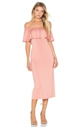 Rachel Pally Bodycon Ruffle Dress Blush