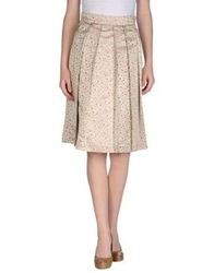 Andrea Incontri Knee Length Skirts Beige
