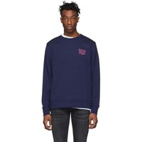 Saturdays Surf Nyc Blue Bowery Script Logo Sweatshirt