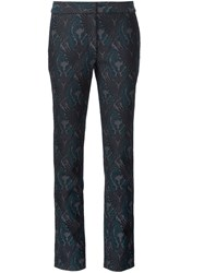 Yigal Azrouel Jacquard Lace Up Slim Fit Trousers Black