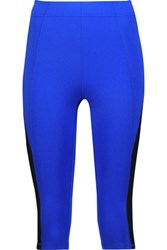 Purity Active Cropped Two Tone Stretch Leggings Bright Blue