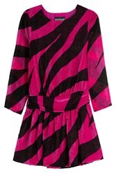 Boutique Moschino Zebra Print Mini Dress Pink