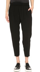 Nili Lotan Cropped Slouchy Pants Black