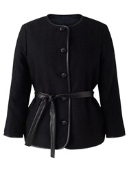 Jigsaw Herringbone Jacket Black