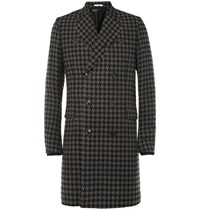 Paul Smith Houndstooth Check Wool Blend Coat