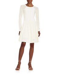 Rachel Roy Knit Fit And Flare Dress Winter White