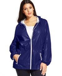 Styleandco. Style And Co. Sport Plus Size Hooded Anorak Jacket Ink
