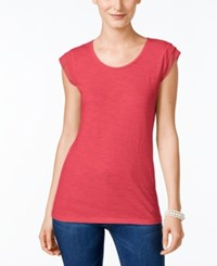 Styleandco. Style And Co. Petite Cap Sleeve T Shirt Only At Macy's Crushed Petal