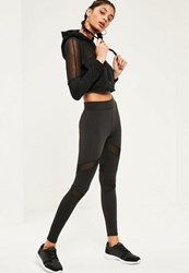 Missguided Active Mesh Panel Gym Leggings Black