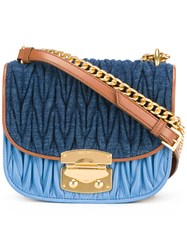 Miu Miu Matelasse Satchel Bag Blue