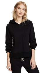 Pam And Gela Hollywood Hoodie With Lace Up Side Seam Black