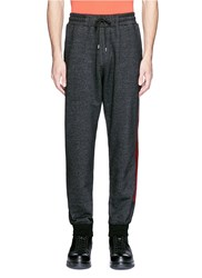 Mcq By Alexander Mcqueen Woodcut Block Print French Terry Sweatpants Black