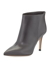 Gianvito Rossi Leather Pointed Toe Bootie Women's Size 34.5B 4.5B Gray