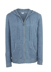 Fat Face Beth Textured Hoodie Blue