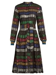 Dodo Bar Or Soraya Long Sleeved Fil Coupe Dress Multi