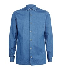 Z Zegna Slim Fit Denim Shirt Male Blue