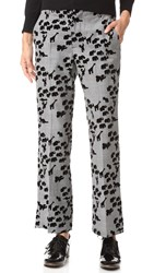 Marc Jacobs Animal Cropped Bowie Pants Plaid Multi