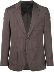 Cerruti 1881 Striped Single Breasted Blazer Multicolour