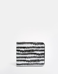 Monki Printed Wallet Black Wave