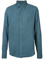 The Elder Statesman Classic Shirt Men Cotton M Blue
