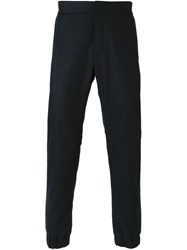 Msgm Gathered Ankle Trousers Blue