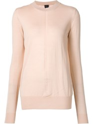 Vera Wang Contrast Panel Jumper Nude And Neutrals