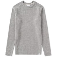 Norse Projects Birnir Compact Merino Crew Knit Grey