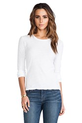 James Perse Long Sleeve Crew White