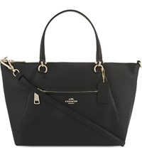 Coach Praire Grained Leather Satchel Black