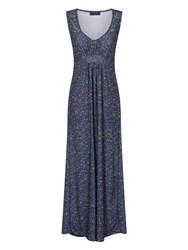 Hotsquash Empire Line Jersey Maxi Dress Light Blue