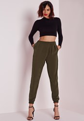 Missguided Utility Joggers Khaki Beige