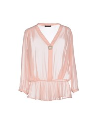 Pinko Black Shirts Blouses Women Light Pink
