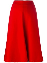 Christophe Lemaire Front Flap Pocket Skirt Red