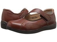 Drew Shoe Heather Brandy Leather Women's Shoes Brown
