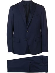 Caruso Single Breasted Suit Blue
