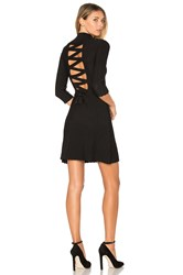 For Love And Lemons X Knitz Simone Laced Back Sweater Dress Black