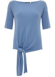 Mint Velvet Bluebell Knotted Tee Blue