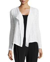 Paperwhite Ribbed Knit Cardigan