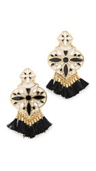 Kate Spade Moroccan Tile Chandelier Earrings Black